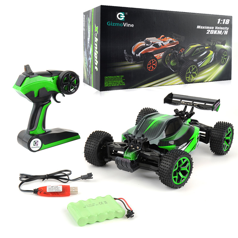1/18 RC Car 2.4G 4CH 4WD 20KM/H High Speed Cars Scal RC RTR Toy Rock Crawlers Double Motors Drive Buggy Remote Control Car Gifts