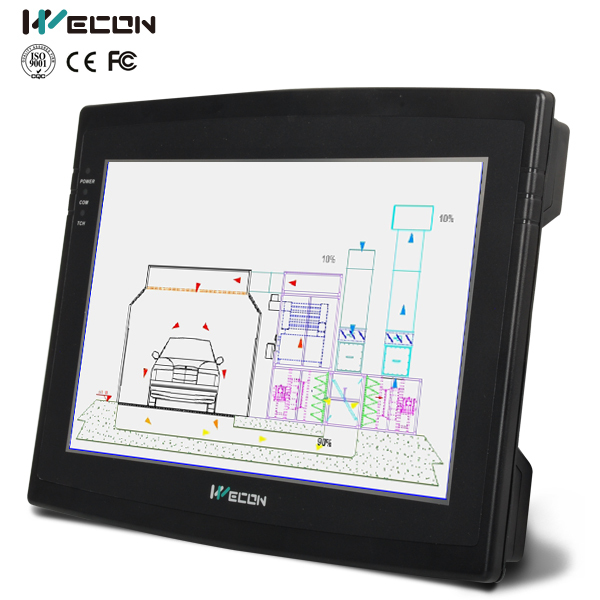 Wecon 10.2 Inch Machine Control Panel With TTS Audio Output for Machinery