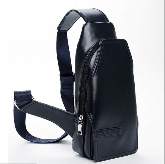2016 년 인기 패션 가슴 pu 가죽 가방 남자 가슴 가방 허리 가방 남성 한 어깨 그의 유틸리티 배달 무료