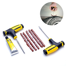 Car Tire Repair Kit 1 Set Professional Car Repair Tools Car Motorcycle Tubeless Tire Tyre Puncture Plug Repair Kit Accessories 1pc tire iron set remove tyre tools motorcycle bike professional tire change kit crowbar spoons pry bar pry rod
