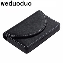 Weduoduo New Business ID Credit Card Holder For Women Men Fashion Brand Metal Aluminum Case PU Leather holder