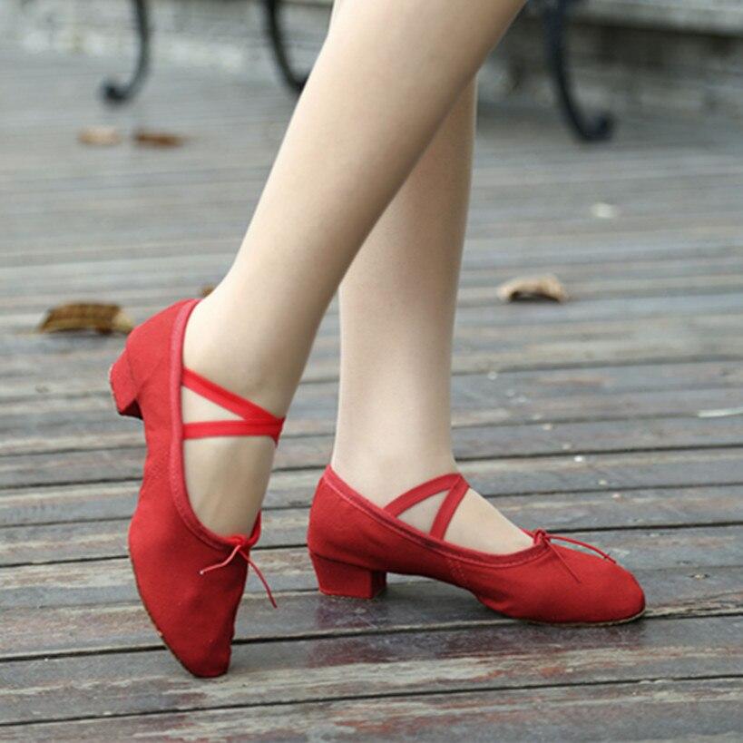 57d3fc16939 Μαύρο κόκκινο ροζ μπαλέτο παπούτσια χορού για τη γυναίκα παπούτσια ...