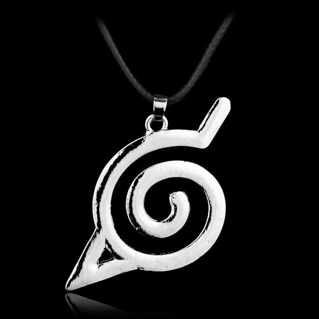 Mqchun New Arrival Anime Naruto Necklace Naruto Leaf Village Symbol