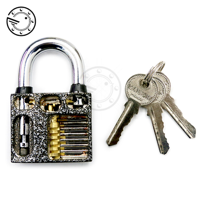 Professional Cutaway Inside View of Practice Padlocks Lock Training Trainer Skill Pick For Locksmith With 3 KeysProfessional Cutaway Inside View of Practice Padlocks Lock Training Trainer Skill Pick For Locksmith With 3 Keys
