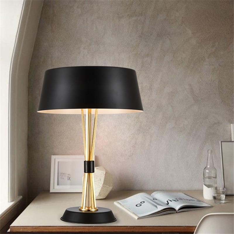 Modern Creative Concise Art Style Aluminum Table Light Bedroom Lamp Study Light Decorati ...