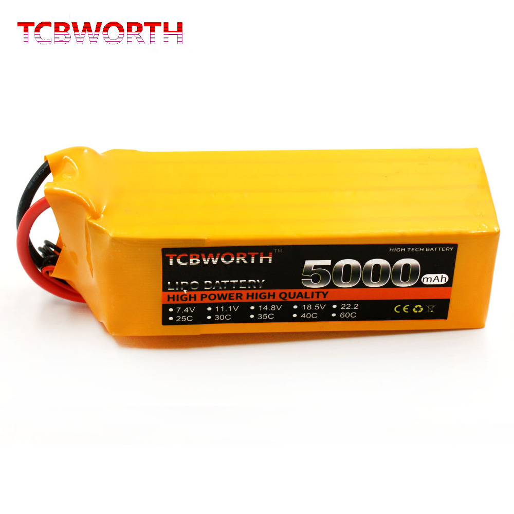 6S 22.2V 5000mAh 35-70C RC LiPo battery For RC Airplane Helicopter Quadrotor AKKU Drone Li-ion battery