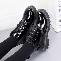2018 spring Autumn Japanese Lolita shoes women Student uniform shoes Leisure Lolita Leather shoe Round head High top single shoe