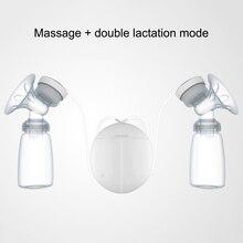 1 шт. Электрический автоматический молокоотсос двойной молокоотсос бутылочка для молока безопасность для малышей массаж молокоотсос USB зарядка для кормления