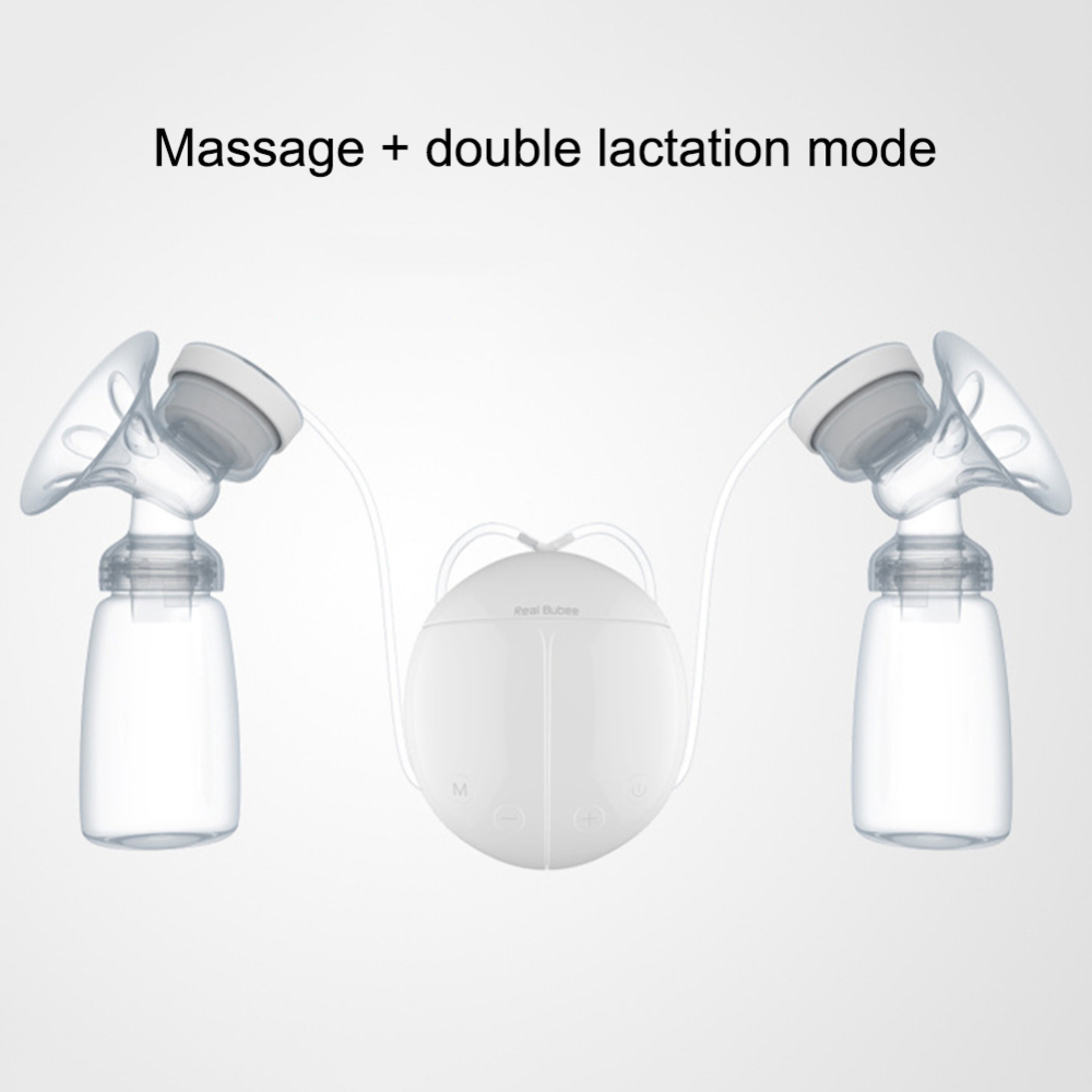 1pcs Electric Automatic Breast Pump Double Breast Machine Milk Bottle Safty Infant Massage Breast Pump USB Charge Breast Feeding