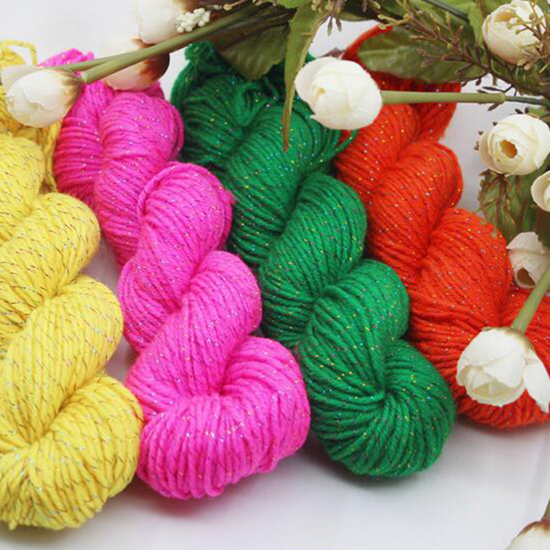 Creative Natural Soft Acrylic Yarn Thick Yarn For Knitting