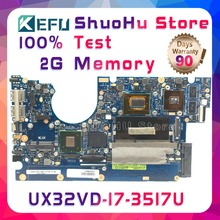 цена на KEFU UX32VD For ASUS UX32V UX32A UX32VD CPU I7-3517U 2G Memory ZenBook laptop motherboard tested 100% work original mainboard