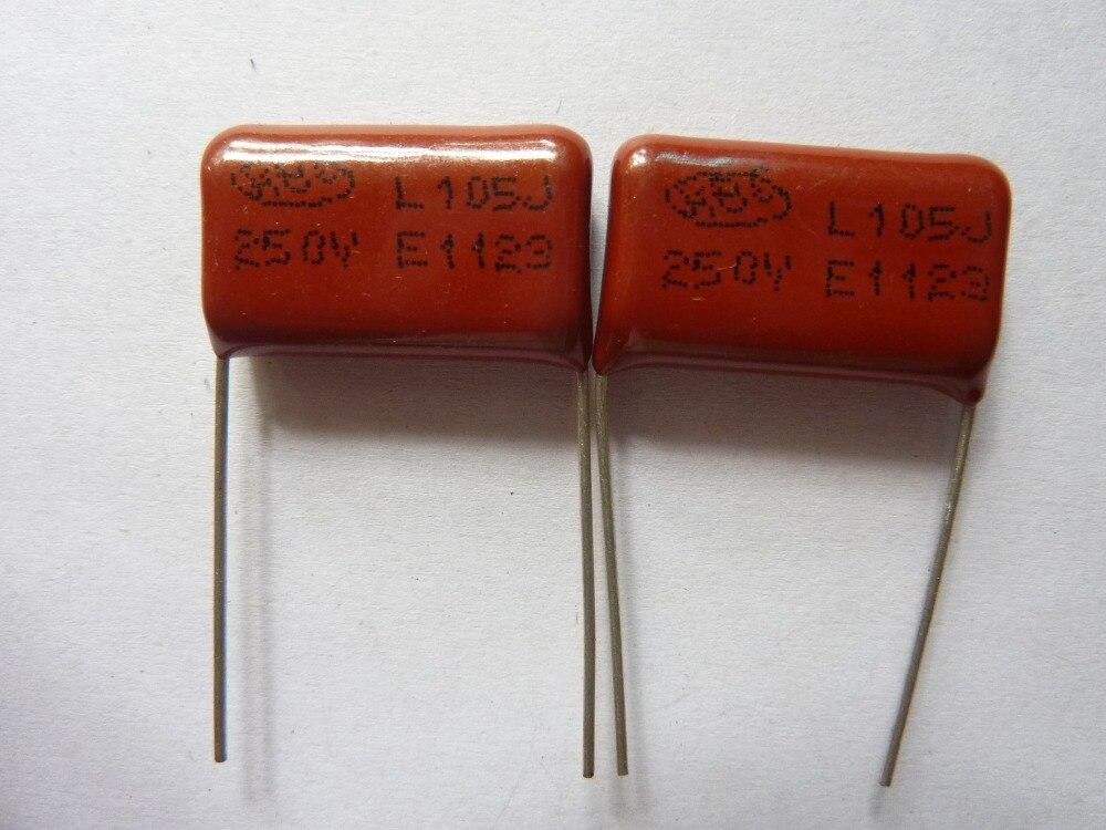 200PCS CBB21 105J 400V 1UF 1000NF P15 Metallized Film Capacitor