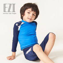 july sand kids boy surfing cloth with round neck colour block two piece suit swimwear 18B001 format kids boy 16