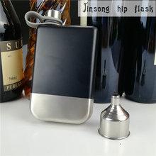 8 oz In Acciaio Inox Fiaschetta nero con il grande imbuto Whisky Bottiglia All'aperto Tasca Portatile Fiaschi di Vino Brocche