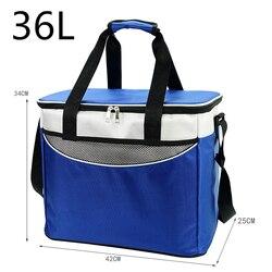 36L Большая складная водонепроницаемая сумка-холодильник из ткани Оксфорд для пикника портативный пищевой холодильник для пива Термосумка