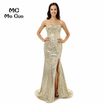 Bling 2017 Sequined Prom Evening dresses Long Mermaid Dress for graduation Vestidos de fiesta Formal Evening Prom Dress