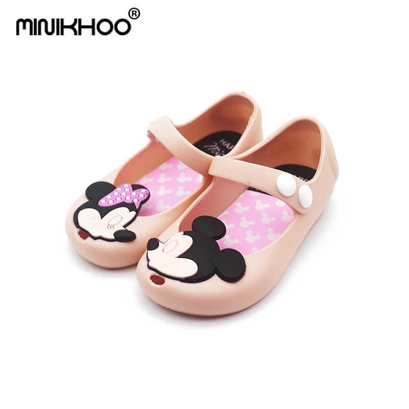 22f8bb070 Mini Melissa 2018 dibujos animados Mickey Minnie niñas sandalias verano PVC  jalea Zapatos niño niña Sandalias