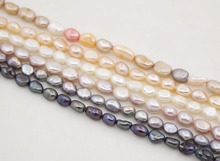 Natural White Pink Lilac Gray Black Pearl 5X6-7mm Loose Beads  14 Long набор из 5 свечек 2 5x6 5x6 5 donkey