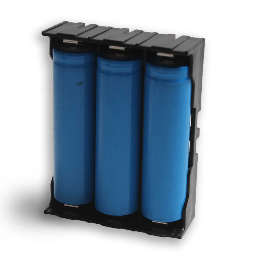 20 adet 3*18650 Paralel Pil Plastik Pil Tutucu/saklama kutusu Için 3*3.7 V 18650 Lityum pil Ile Pin