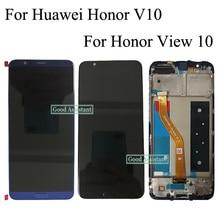 Huawei 社名誉 V10 BKL AL00 BKL AL20/名誉ビュー 10 BKL L09 Lcd ディスプレイ + タッチスクリーンデジタイザアセンブリフレーム