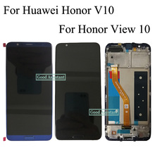 Originele Voor Huawei Honor V10 BKL AL00 BKL AL20/Honor View 10 BKL L09 Lcd scherm + Touch Screen Digitizer Vergadering Met frame