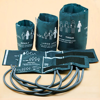 6 sizes(Neonate,Infant,Child,Adult,Large Adult,Thigh )reusable Blood Pressure Cuff ,without NIBP connector,Dual air hose 40cm
