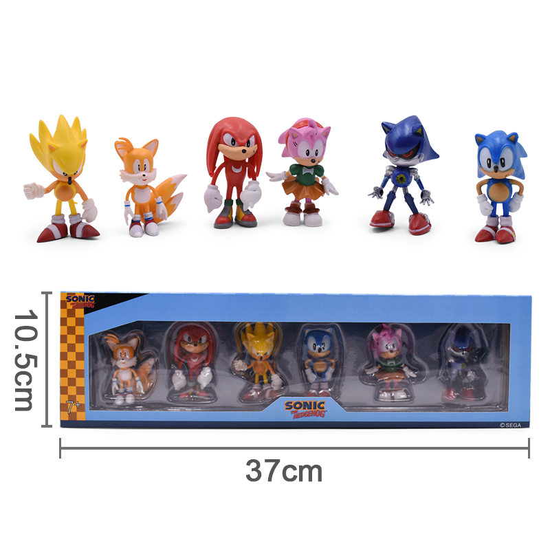 ALI shop ...  ... 32955906415 ... 1 ... Sonic Anime Doll Action Figure Toys Box-Packed 6PCS/SET 2st Generation Boom Rare PVC Model Toy For Children Characters Gift ...