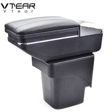 hot deal buy vtear for ford focus 2 armrest box central store mk2 content box products interior armrest storage car-styling accessories parts