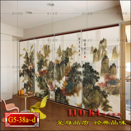 Landscape paintings shutter curtain pull the bead curtain finished bedroom living room upscale minimalist modern custom светофильтр gopro dive filter for standard housing