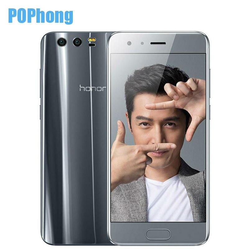 bilder für Huawei Honor 9 4G/6G RAM 64 GB/128G ROM 5,15 zoll 1920*1200 Android 7.0 Handy Kirin 960 Octa Core Fingerabdruck 3 kameras
