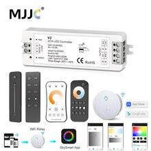 цена на 12V LED Controller CCT 2CH RF Wireless Remote 2.4G 10A 24V DC 12V Smart Wifi Dimmer for Dual White Single Color LED Strip Light
