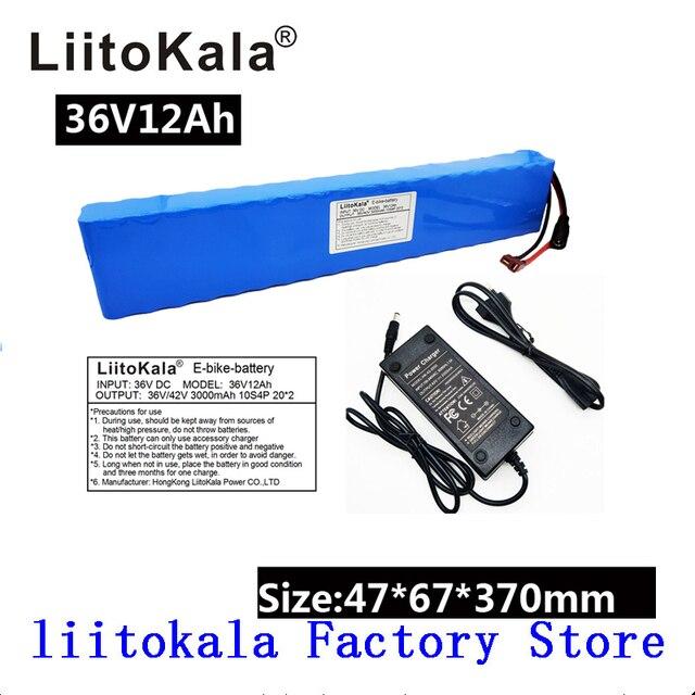 LiitoKala 36V 12Ah 500W Cao Cấp & Dung tích 42V 18650 lithium pin Ebike xe điện xe đạp động cơ xe tay ga với BMS