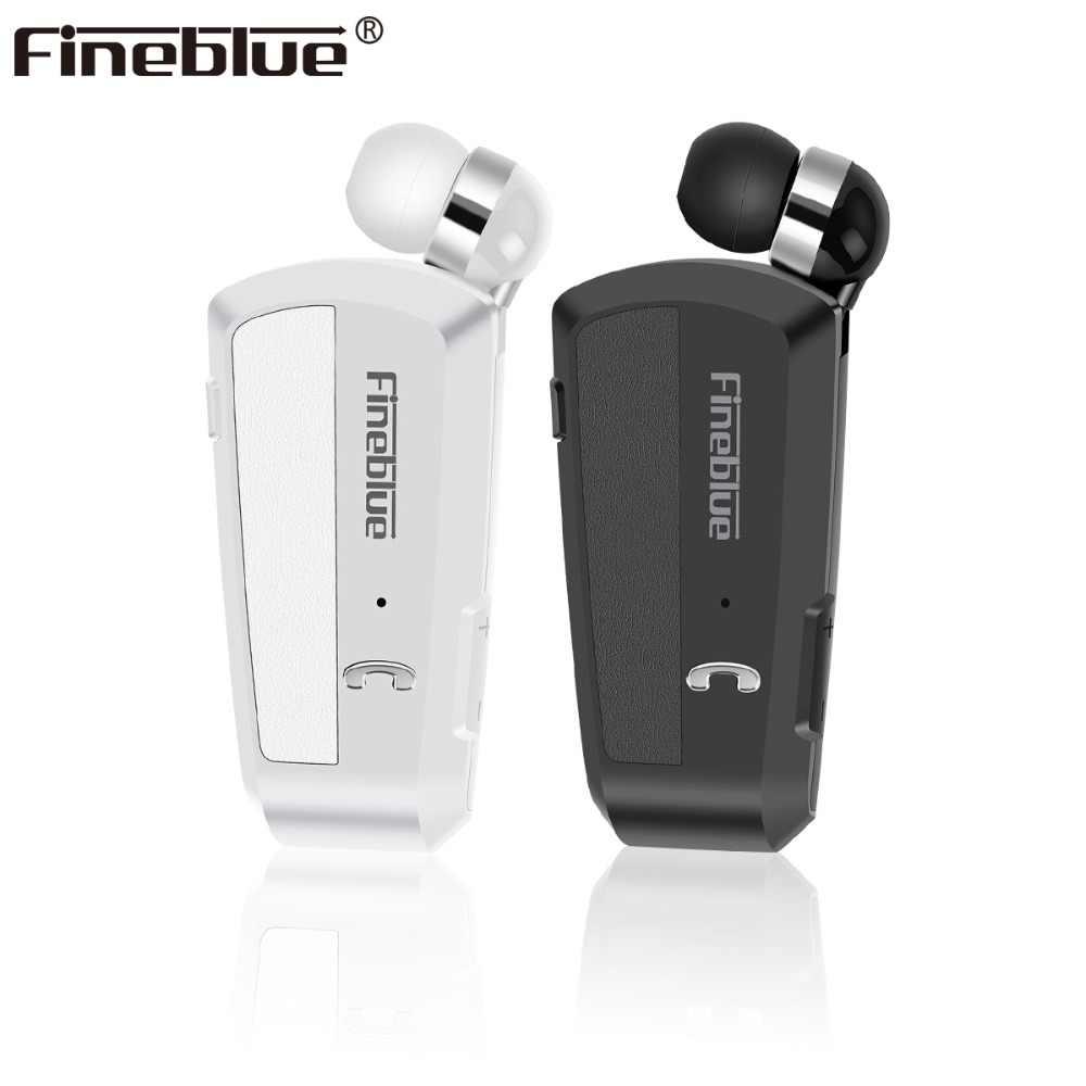 053bf9cf122 Fineblue F990 Wireless Bluetooth earphones neck clip on telescopic type  business Sport stereo head phones Vibration