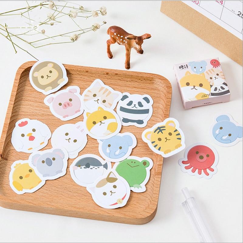 45pcs/lot cute animal Mini Paper sticker decoration DIY ablum diary scrapbooking label stickers kawaii stationery