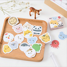 цена на 45pcs/lot cute animal Mini Paper sticker decoration DIY ablum diary scrapbooking label stickers kawaii stationery