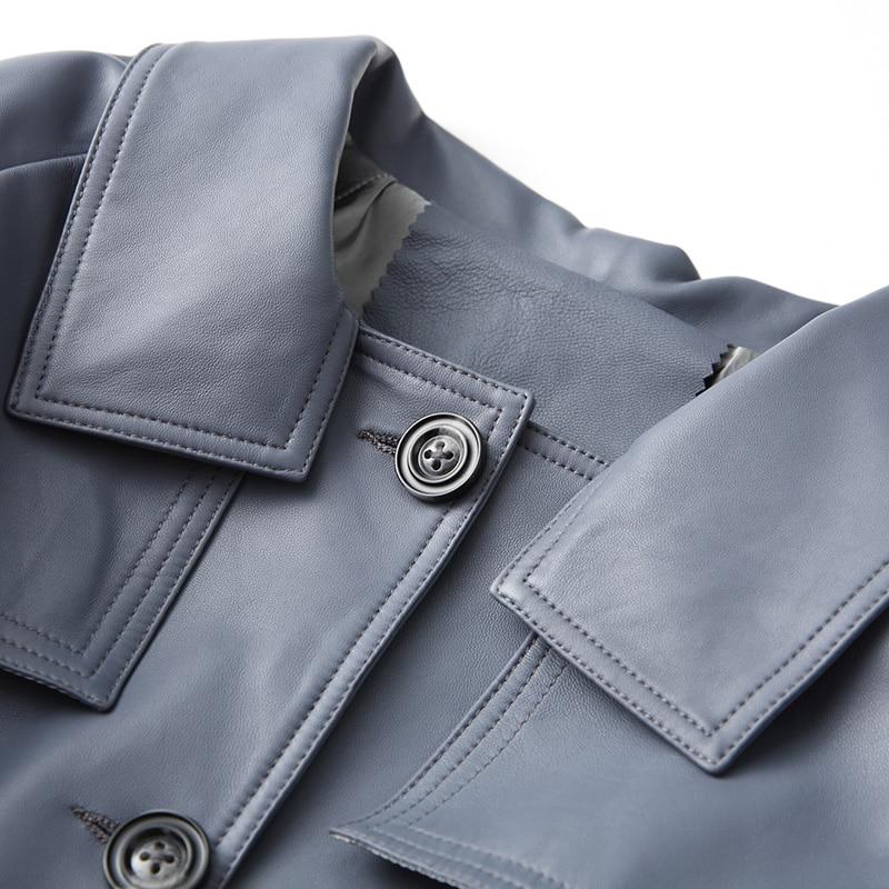 Hiver Printemps Manteau Coréenne My2104 Blue Veste Cuir Mouton Vestes Femme Réel Peau Véritable De Biker Automne En Femmes tZHRatpqw