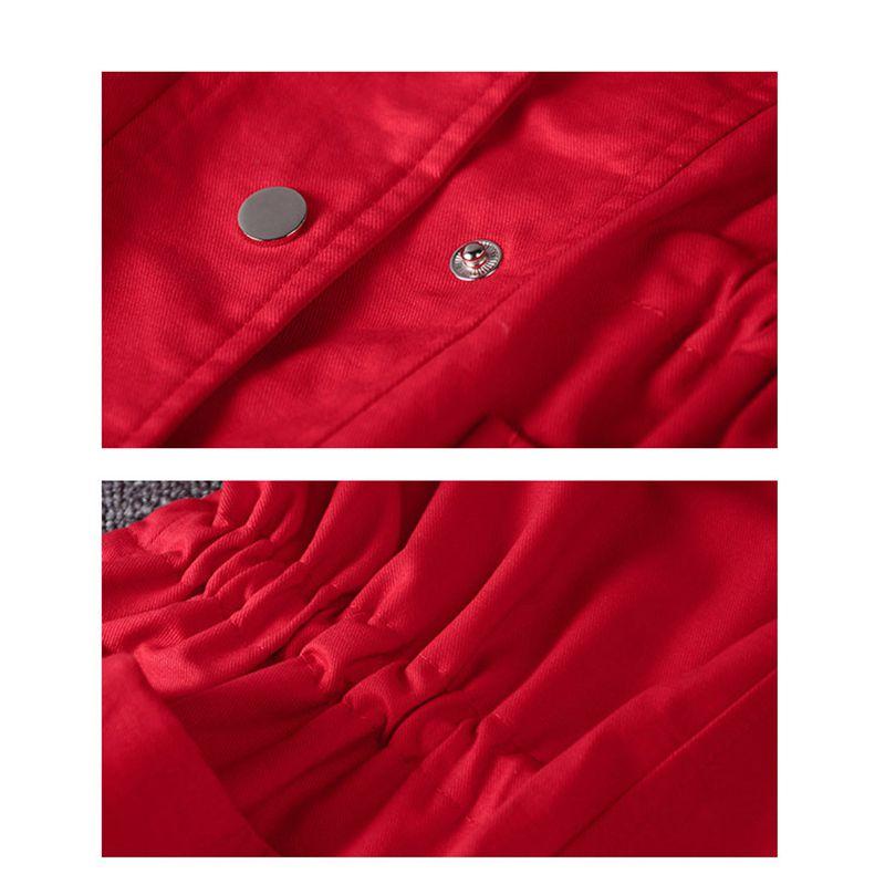 vent vent Single Long Couleur Brise 2019 breasted Et Femmes Red Automne Coupe À Ko20 Manteau Nouveau Moyen Solide Printemps Capuchon Poches UEwxFWqAU7