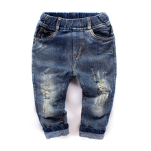 Fashion baby boys jeans child jeans boys pants hole denim trousers baby casual pants spring and autumn