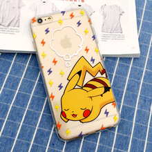 Ultra Thin Anti Knock 3D Cartoon Pokemon Pikachu Silicone Case Cover For iPhone