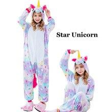 faab09da59dc Winter Unisex Unicorn Pajamas Kigurumi Animal Star Pyjamas women Adult  onesies Cosplay Flannel stitch Onesie Sleepwear
