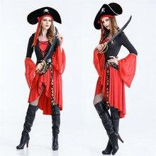 Las mujeres Sexy traje de pirata adulto Carnaval de Halloween uniformes  fiesta Cosplay disfraces Caribe piratas 7f7fd3299c1