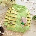 2016  Autumn/Winter new style Baby Cartoon knit cardigans sweaters,Children fashion bear sweatercoat,V978