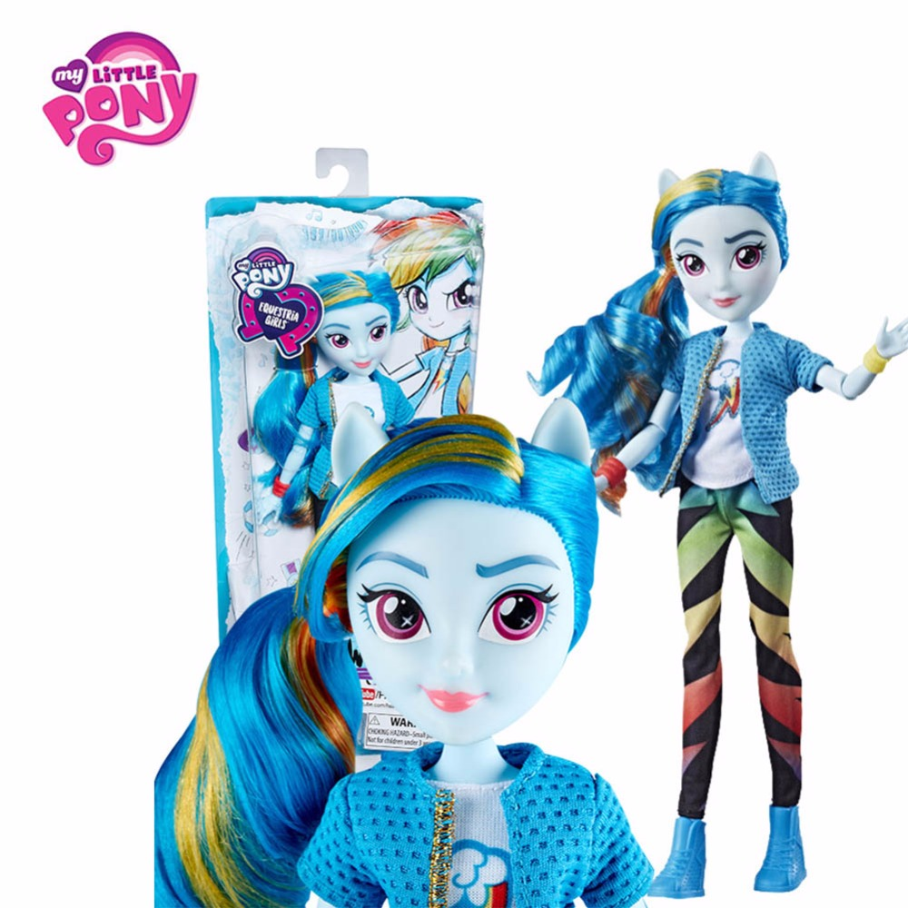 Hasbro My Little Pony Toys Equestria Girls Twilight Sparkle Fluttershy Rainbow Dash Anime Figure Toy PVC Collectible Model Doll my little pony equestria girls sour sweet doll