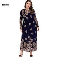 TUHAO Autumn Winer Dresses for Women PLU SIZE 4xl 3xl Islamic Abaya Dresses Arab Ladies Caftan Kaftan Women Muslim Dress ZL11