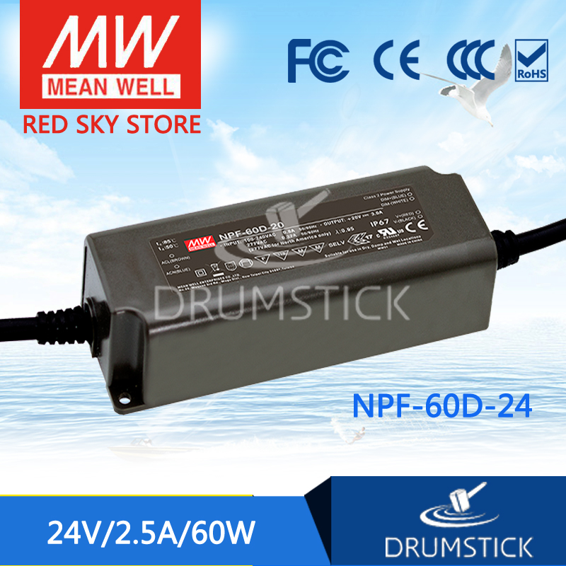 prosperity MEAN WELL NPF-60D-24 24V 2.5A meanwell NPF-60D 24V 60W Single Output LED Switching Power Supply