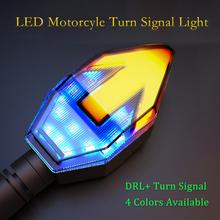 2 sztuk motocykl włącz sygnał LED wskaźnik motocykl jasne światła dla Honda Harley Yamha Hayabusa Suzuki BMW Triumph KTM tanie tanio Światło migacza White red blue DC 12V Daytime Running Light DRL + Turn Siganl