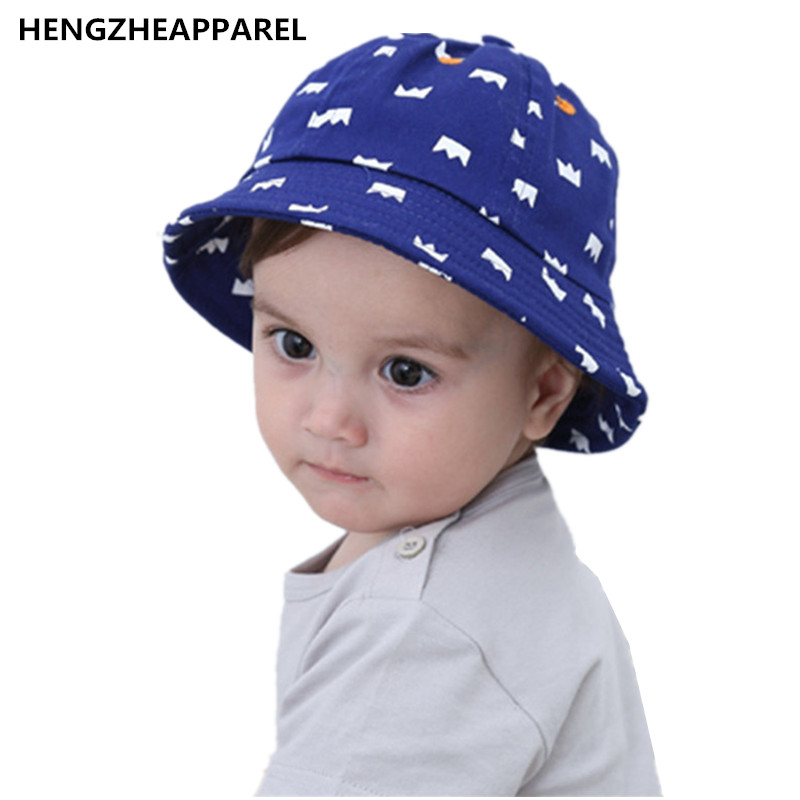 Spring summer 2017 new arrival baby pot denim sunscreen crown cap children  fisherman hat boys girls kids wear round shape hats -in Hats   Caps from  Mother ... c23cd5f5835