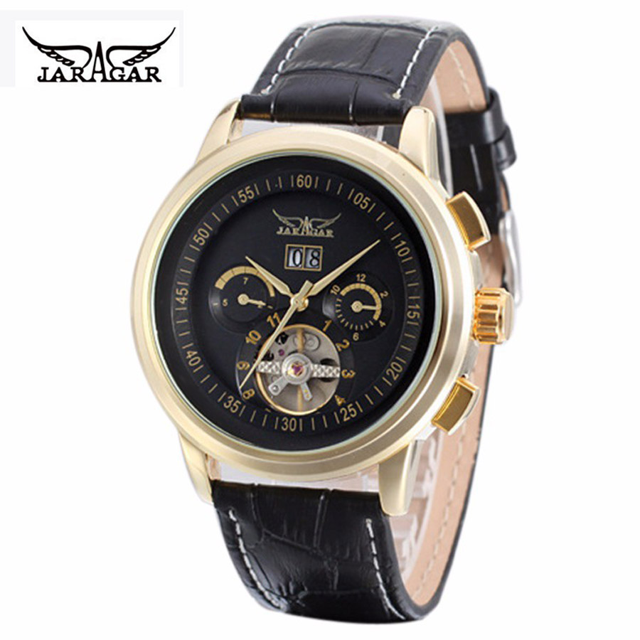 JARAGAR Brand Designers Multi Function Automatic Mechanical Big Watches Atmos Army Clock Men's Tourbillon Watch relogio masculin