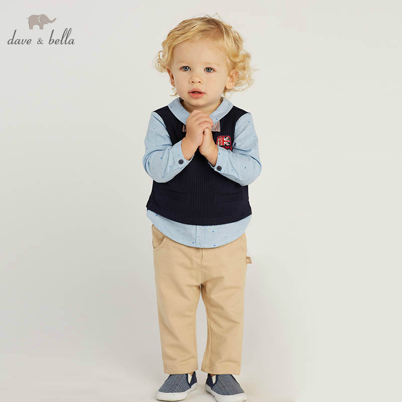 DB10184 dave bella spring baby boys fashion sets kids long sleeve clothing sets children 2 pcs suitDB10184 dave bella spring baby boys fashion sets kids long sleeve clothing sets children 2 pcs suit