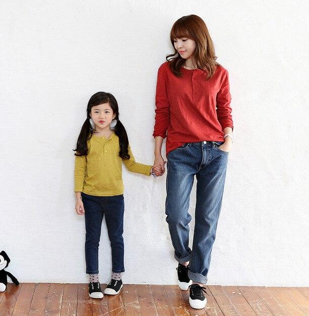 Hija de la madre de primavera de manga larga T camisa ropa madre e hija familia look fashion party familia ropa a juego